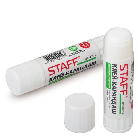 Клей-карандаш (клеящий карандаш) STAFF 21 г, 220375  Код: 220375