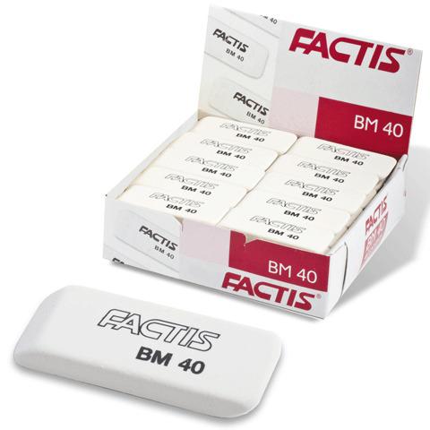 Резинка стирательная FACTIS BM 40 (Испания), прямоугольная, 52х20х7мм, синтетический каучук, CNFBM40  Код: 220908