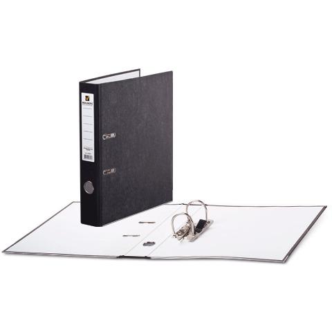 Папка-регистратор BRAUBERG (Брауберг) фактура стандарт, с мраморным покрытием, 50 мм, черный корешок, 220982  Код: 220982