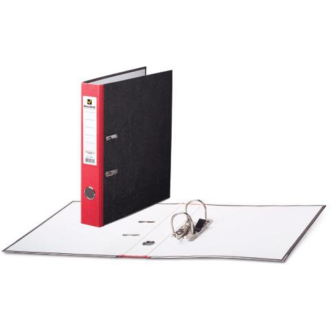 Папка-регистратор BRAUBERG (Брауберг) фактура стандарт, с мраморным покрытием, 50 мм, красный корешок, 220983  Код: 220983