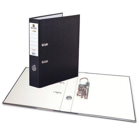 """Папка-регистратор BRAUBERG (Брауберг) """"ECO"""", 80 мм, черная, 221395  Код: 221395"""