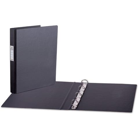 Папка 4 кольца BRAUBERG, картон/ПВХ, 35мм, черная, до 180 листов (удвоенный срок службы), 221483  Код: 221483