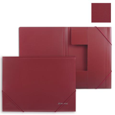 Папка на резинках BRAUBERG (Брауберг) Стандарт, красная, до 300 листов, 0,5мм, 221622  Код: 221622