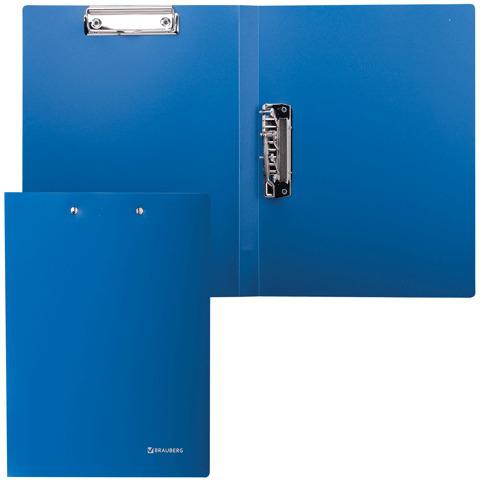 Папка с 2 мет.приж. BRAUBERG (Брауберг) Стандарт, синяя, до 100 листов, 0,6мм, 221625  Код: 221625