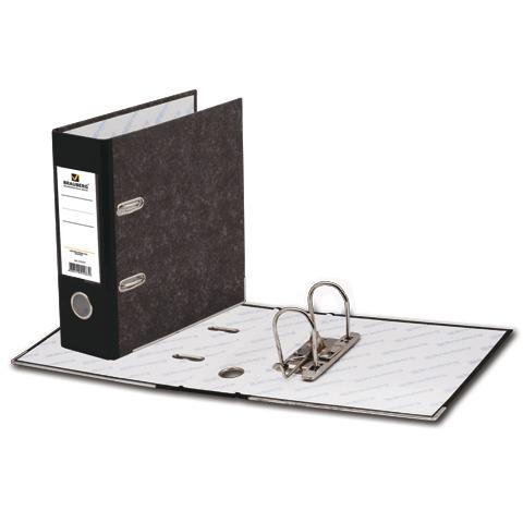 Папка-регистратор BRAUBERG (Брауберг) А5 вертикал, фактура стандарт, мраморное покрытие, 70 мм, черный корешок,221721  Код: 221721