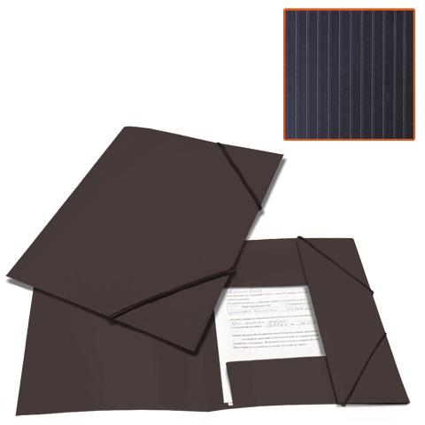 Папка на резинках BRAUBERG (Брауберг) Contract, черная, до 300 листов, 0,5мм, бизнес-класс, 221796  Код: 221796