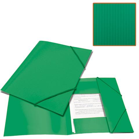 Папка на резинках BRAUBERG (Брауберг) Contract, зеленая, до 300 листов, 0,5мм, бизнес-класс, 221799  Код: 221799