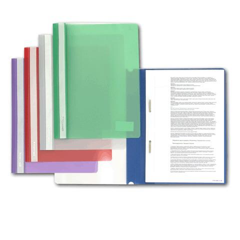 Скоросшиватель пластиковый BRAUBERG, цвет ассорти, 221820  Код: 221820