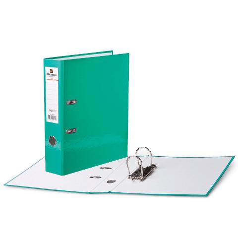 Папка-регистратор BRAUBERG (Брауберг) ламинированная, 80 мм, светло-зеленая, 222070  Код: 222070