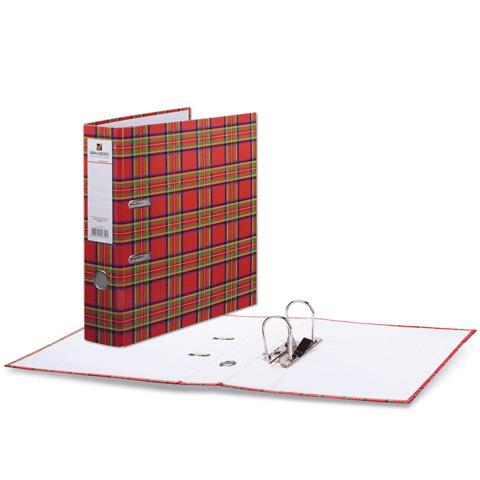 Папка-регистратор BRAUBERG (Брауберг) ламинированная, 80 мм, шотландка, 222074  Код: 222074