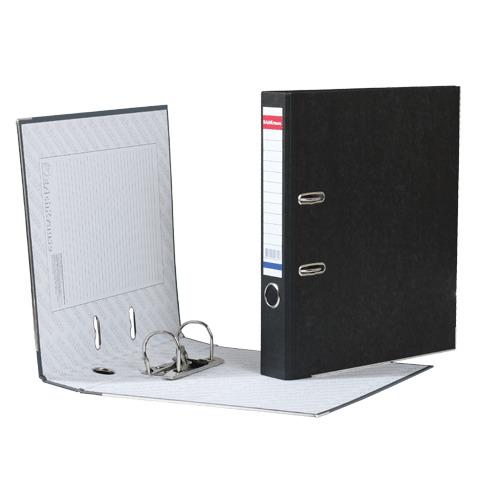 """Папка-регистратор ERICH KRAUSE, с мраморным покрытием, """"содержание"""", 50мм, черный корешок, 4671  Код: 222266"""
