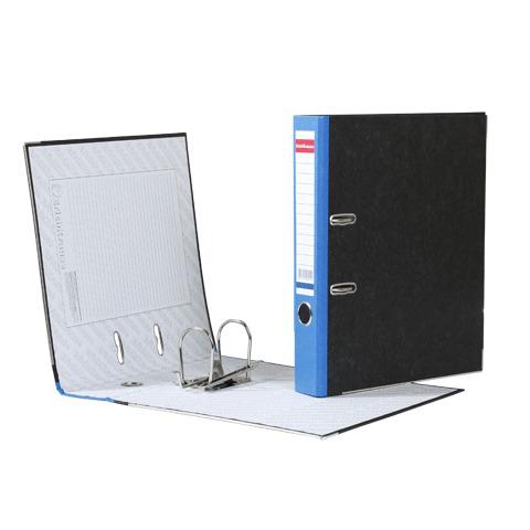 """Папка-регистратор ERICH KRAUSE, с мраморным покрытием, """"содержание"""", 50мм, синий корешок, 414  Код: 222267"""