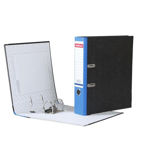 """Папка-регистратор ERICH KRAUSE, с мраморным покрытием, """"содержание"""", 70мм, синий корешок, 408  Код: 222270"""