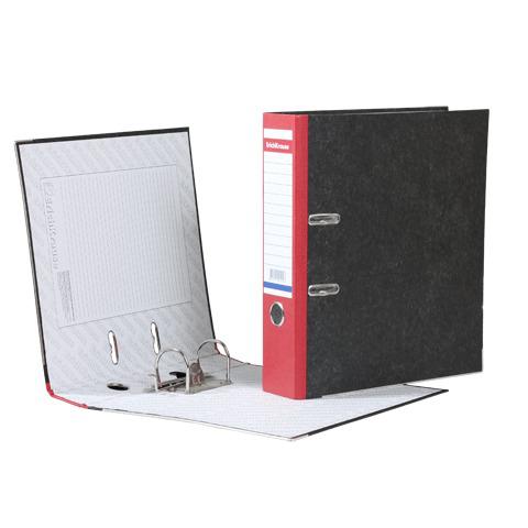 """Папка-регистратор ERICH KRAUSE, с мраморным покрытием, """"содержание"""", 70мм, красный корешок, 410  Код: 222271"""