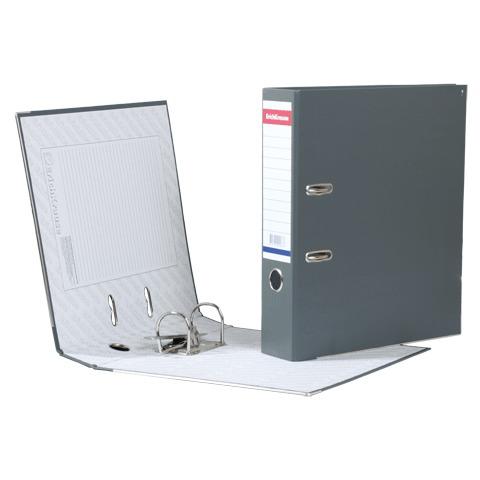 """Папка-регистратор ERICH KRAUSE """"Стандарт"""", с покрытием из ПВХ, 70мм, серая, 286  Код: 222281"""