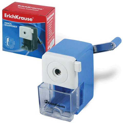 Точилка механическая ERICH KRAUSE, пластиковая, с контейнером, металлический механизм, 6798  Код: 222306