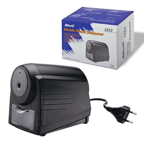 Точилка электрическая KW-trio, индикатор заточки, питание от сети 220В, черная, 3252  Код: 222452