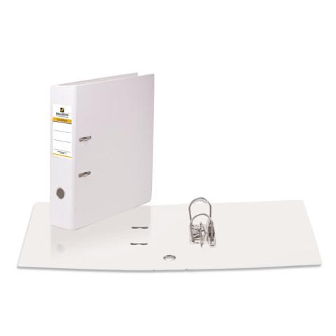 Папка-регистратор BRAUBERG (Брауберг) с двухсторонним покрытием из ПВХ, 70 мм, белая, 222651  Код: 222651