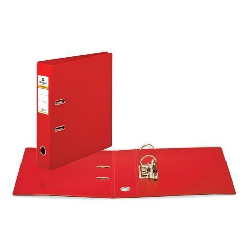 Папка-регистратор BRAUBERG (Брауберг) с двухсторонним покрытием из ПВХ, 70 мм, красная, 222652  Код: 222652