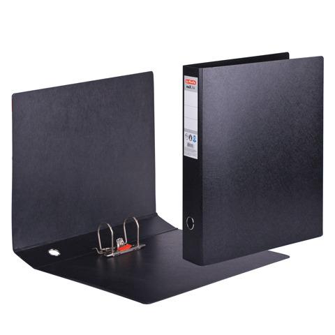 Папка-регистратор HERLITZ А3 вертикальная, прочный фиброкартон, 75мм, черная, 10842383  Код: 222974