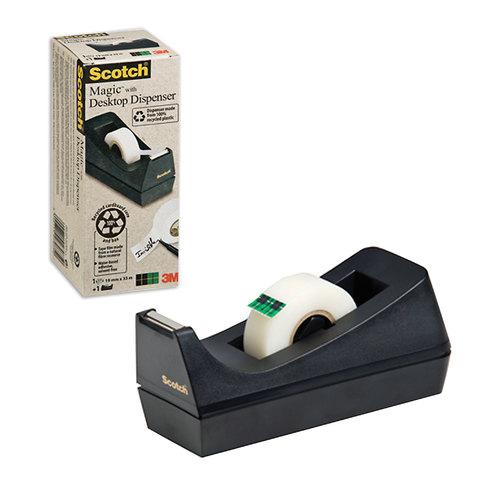 Диспенсер для клейкой ленты SCOTCH настольный, без ленты, д/лент шириной до 19 мм, С38,70005031102  Код: 223064