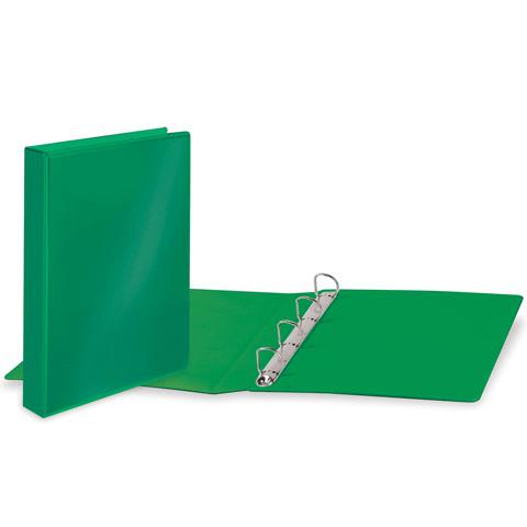 Папка на 4 кольцах с передним прозрачным карманом BRAUBERG, картон/ПВХ, 50мм, зеленая,до 400л,223532  Код: 223532