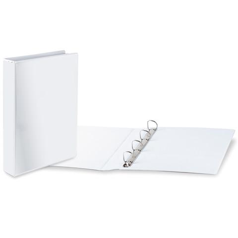Папка на 4 кольцах с передним прозрачным карманом BRAUBERG, картон/ПВХ, 65мм, белая, до 500л, 223535  Код: 223535