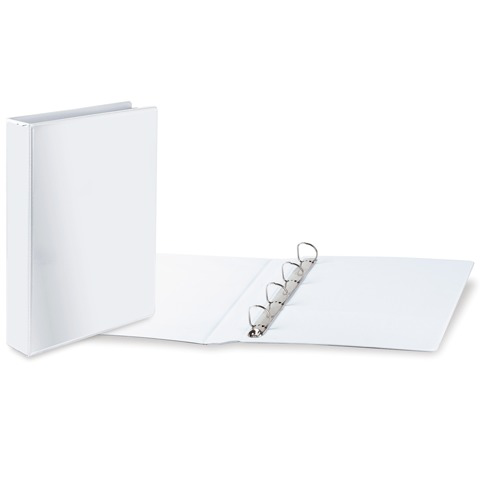 Папка 4 кольца BRAUBERG, картон/ПВХ, с передним прозрачным карманом, 65мм, белая, до 400 листов  Код: 223535