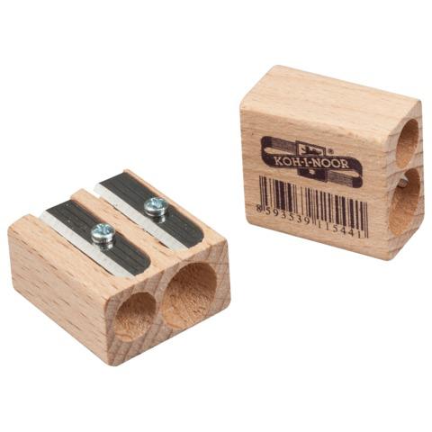 Точилка KOH-I-NOOR, 2 отверстия, деревянная, прямоугольная, 90950Z  Код: 224335