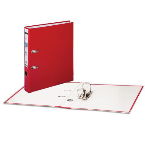 Папка-регистратор LEITZ, механизм 180°, с покрытием из полипропилена, 50 мм, красная, 10151225P  Код: 224490