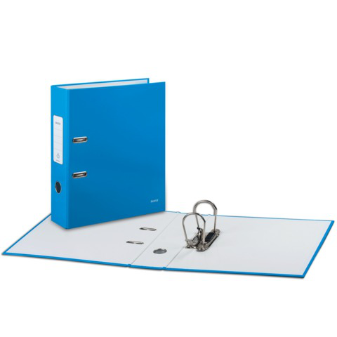 """Папка-регистратор LEITZ """"WOW"""", механизм 180°, с покрытием из полипропилена, 80мм, голубая, 10050036  Код: 224491"""