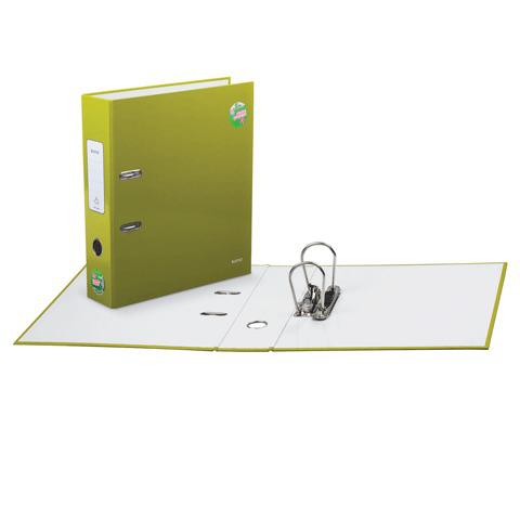"""Папка-регистратор LEITZ """"WOW"""", механизм 180°, с покрытием из полипропилена, 80мм, зеленая, 10050064  Код: 224492"""