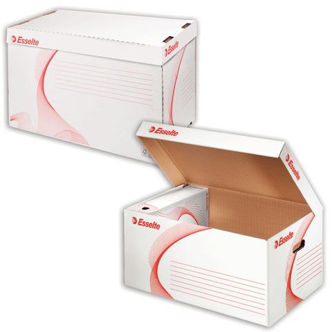 """Короб архивный ESSELTE """"Standard""""для регистраторов/накопителей 56*26,5*38см, откид. крыш, бел,128900  Код: 224504"""