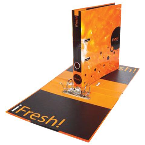 Папка-регистратор HATBER HD, 2-х стороняя запечатка, 50 мм, IFRESH-апельсин, ПР4_11263(V119792)  Код: 224912