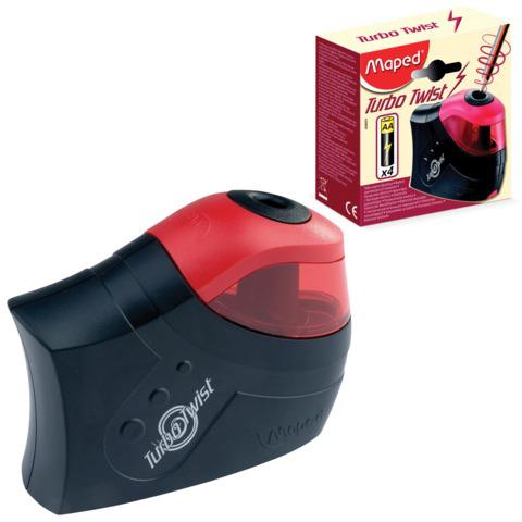 """Точилка электрическая MAPED (Франция) """"Turbo Twist"""", с контейнером, питание 4 батарейки AA,026031  Код: 224964"""