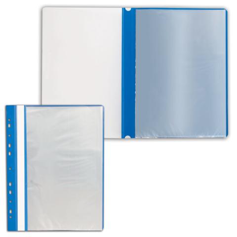 Папка 10 вкладышей STAFF с перфорацией, мягкая, синяя, 0,16мм, 224974  Код: 224974