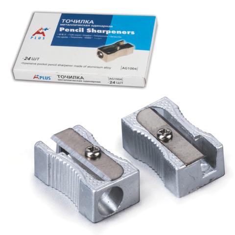 """Точилка BEIFA (Бэйфа) """"A Plus"""" металлическая клиновидная, в картонной коробке, AG1004A  Код: 225014"""
