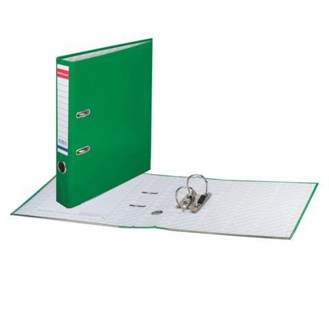 """Папка-регистратор ERICH KRAUSE """"Стандарт"""", с покрытием из ПВХ, 50мм, зеленая, 275  Код: 225114"""