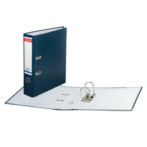 """Папка-регистратор ERICH KRAUSE """"Бизнес"""", с покрытием из ПВХ, 70мм, синяя, 198  Код: 225116"""