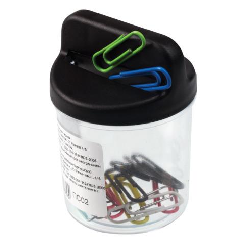 Скрепочница СТАММ магнитная, черная, ПС02  Код: 225177