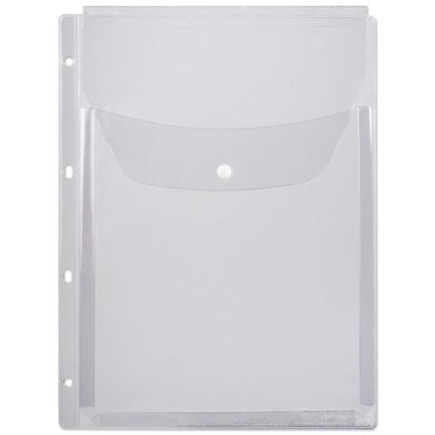 Папка-файл перфорированная (мультифора) А4, объемная до 200 листов, КЛАПАН С КНОПКОЙ, 180 мкм, ДПС, 2308  Код: 225413