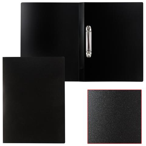 Папка на 2 кольцах STAFF, 21мм, черная, до 120 листов, 0,5мм, 225717  Код: 225717