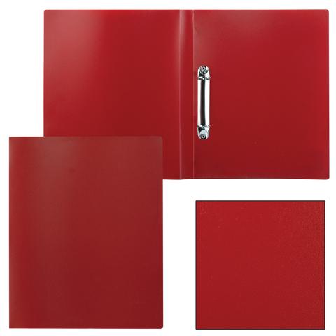 Папка на 2 кольцах STAFF, 21мм, красная, до 120 листов, 0,5мм, 225718  Код: 225718