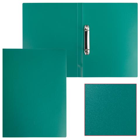 Папка на 2 кольцах STAFF, 21мм, зеленая, до 120 листов, 0,5мм, 225719  Код: 225719