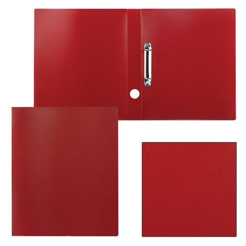 Папка на 2 кольцах STAFF, 40мм, красная, до 300 листов, 0,5мм, 225722  Код: 225722