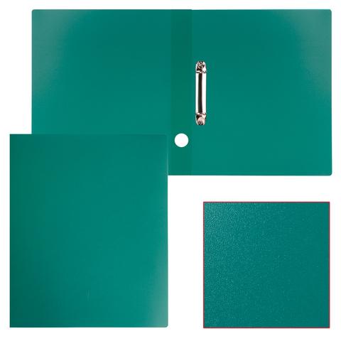 Папка на 2 кольцах STAFF, 40мм, зеленая, до 300 листов, 0,5мм, 225723  Код: 225723