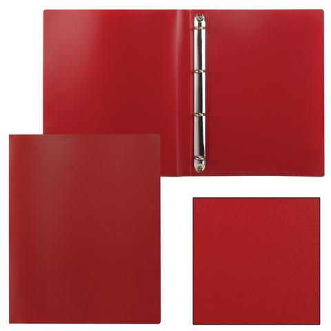Папка на 4 кольцах STAFF, 25мм, красная, до 170 листов, 0,5мм, 225726  Код: 225726
