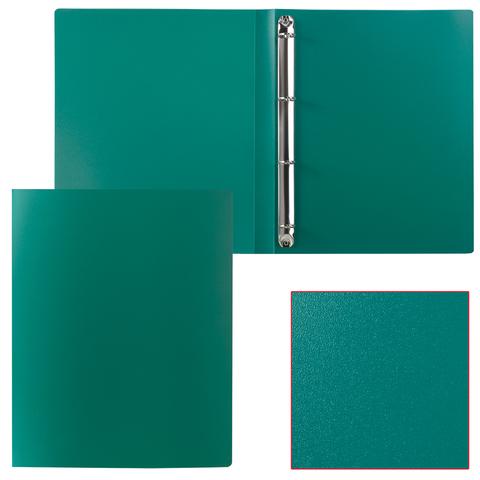 Папка 4 кольца STAFF, 25мм, зеленая, до 180 листов, 0,5мм, 225727  Код: 225727