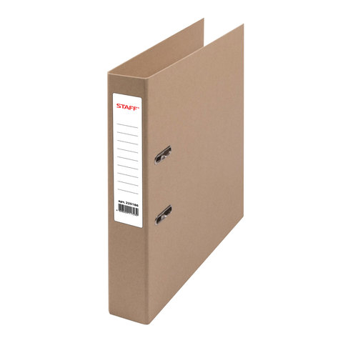 Папка-регистратор STAFF картонная, без покрытия и уголка, 75 мм, 225943  Код: 225943