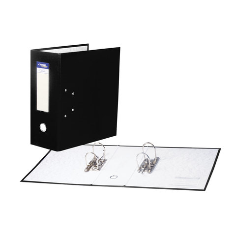 Папка-регистратор с двумя арочными механизмами (до 800 листов), покрытие ПВХ, 125мм, черная, 251540  Код: 226053